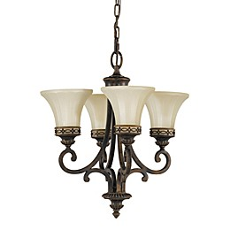Sea Gull Collection by Generation Lighting Drawing Room 4-Light Chandelier in Walnut