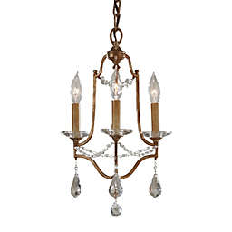 Feiss® Valentina 3-Light Chandelier in Oxidized Bronze