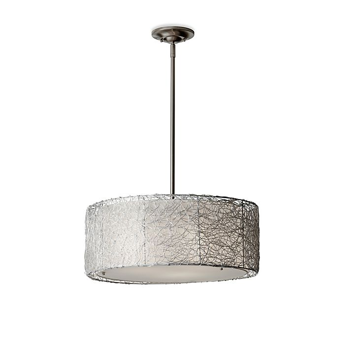 Alternate image 1 for Feiss® Wired Pendant Light in Brushed Steel