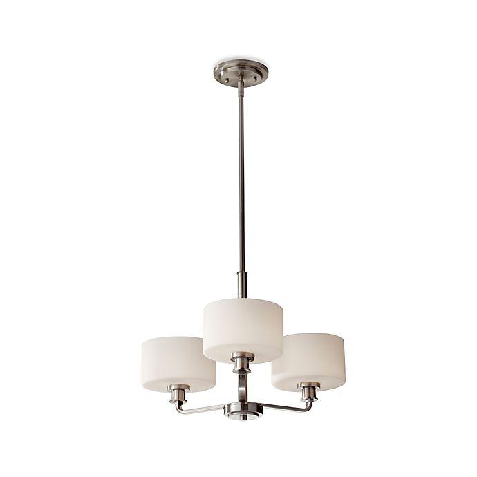 Alternate image 1 for Feiss® Kincaid 3-Light Chandelier in Brushed Steel