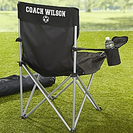 Sports Fan Personalized Black Camping Chair