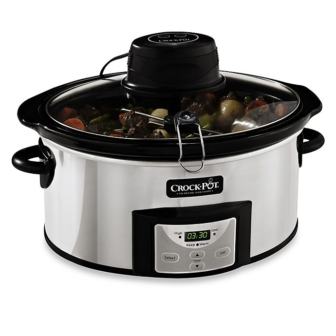 Alternate image 1 for Crock-Pot® 6-Quart Digital Slow Cooker with iStir™ Automatic Stirring System