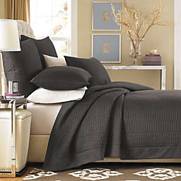 Real Simple® Dune Pillow Shams in Charcoal