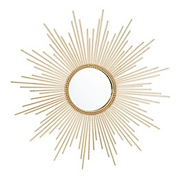 Safavieh Nahla 26-Inch Sunburst Mirror in Gold Leaf
