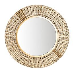 Safavieh Ensley 30.5-Inch Round Mirror in Gold