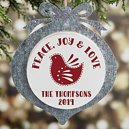 Nordic Noel Christmas Personalized Galvanized Ornament