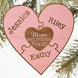 We Love Her To Pieces Personalized Wood Gift Topper Collection