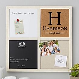 Family Name Personalized 16-Inch Square Multi-Purpose Memo Board
