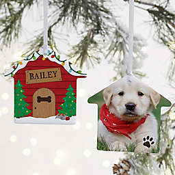 """Good Dog!"" 3.25-Inch 2-Sided Personalized House Photo Ornament"