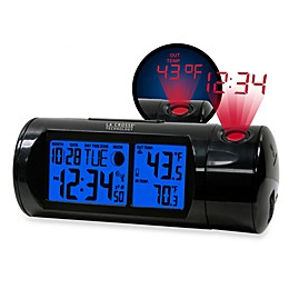 La Crosse Technology Round Projection Alarm Clock