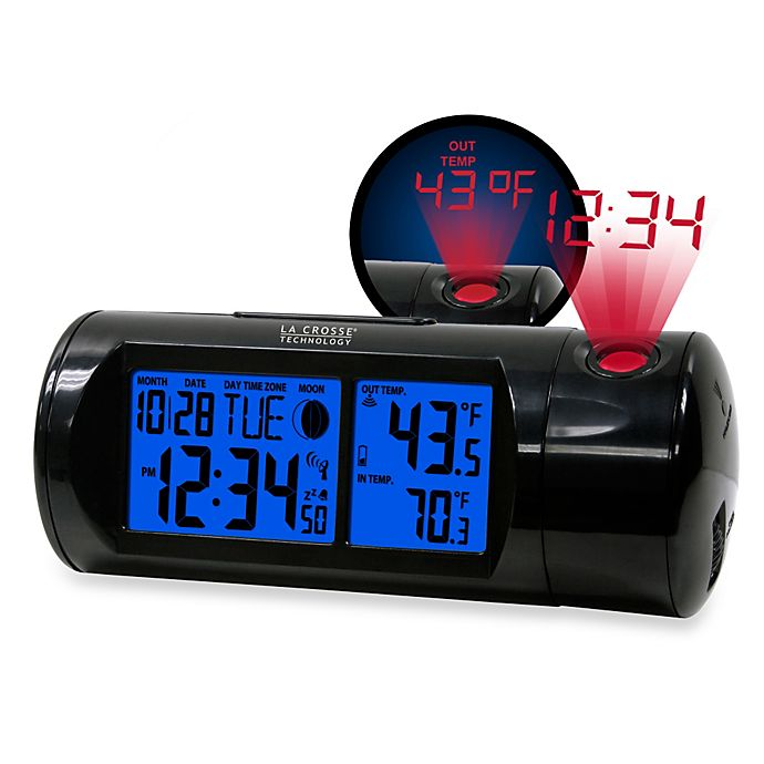 Alternate image 1 for La Crosse Technology Round Projection Alarm Clock