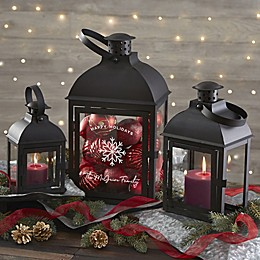 Woodsy Winterland Personalized 3-Piece Candle Lanterns