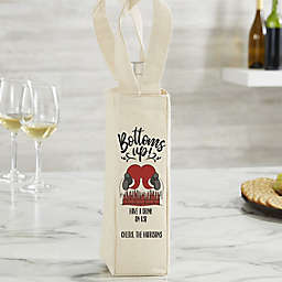 Bottoms Up! Personalized Wine Tote Bag