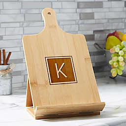 Classic Celebrations Personalized Bamboo Cookbook & Tablet Stand