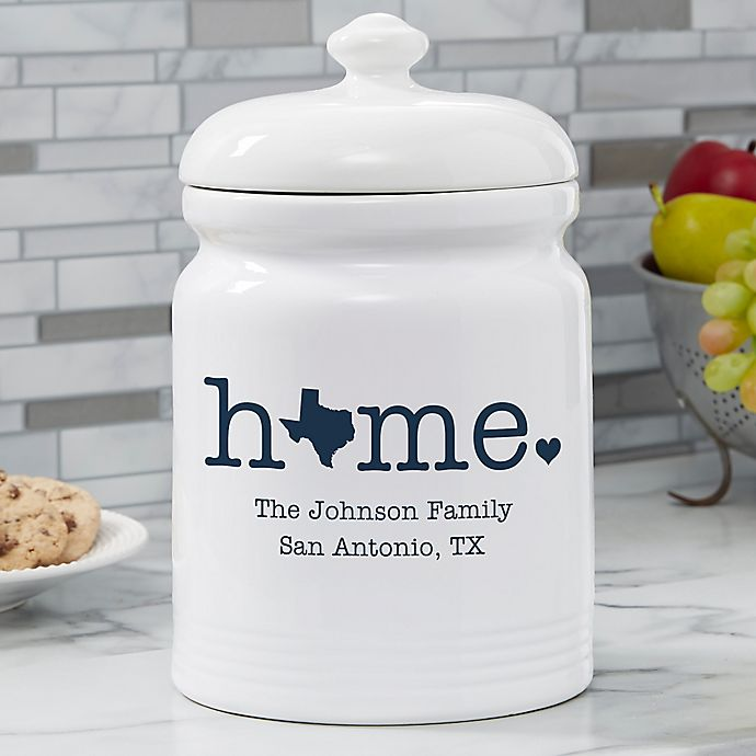 Alternate image 1 for Home State Personalized Cookie Jar