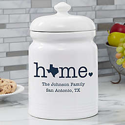 Home State Personalized Cookie Jar