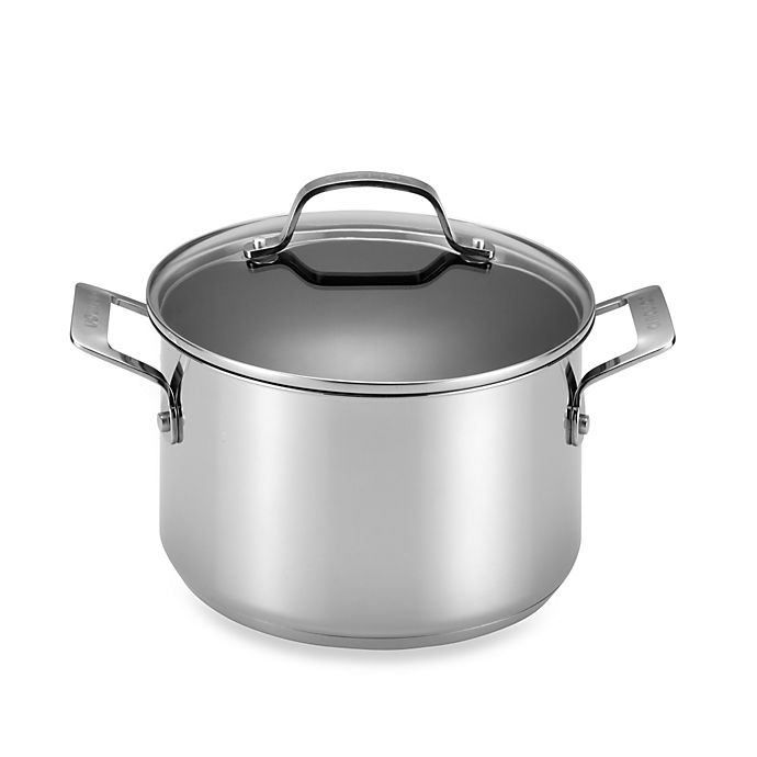 Alternate image 1 for Circulon® Genesis™ Stainless Steel Nonstick 5 qt. Covered Dutch Oven