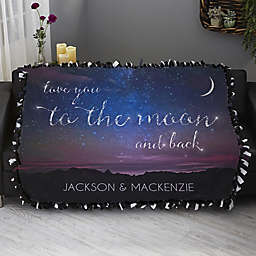 Written in the Stars Personalized 50-Inch x 60-Inch Tie Blanket