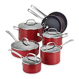 Circulon® Genesis™ Aluminum Nonstick 12-Piece Cookware Set in Red