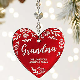 For Her Personalized Metallic Red Heart Ornament