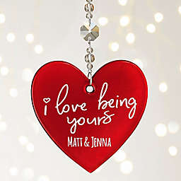 I'm Yours Personalized Metallic Red Heart Ornament
