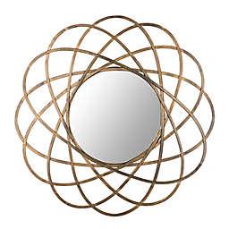 Safavieh Galaxy 32-Inch Round Mirror in Gold