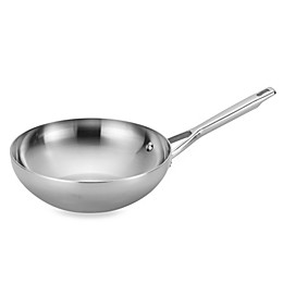 Anolon® Tri-Ply Clad Stainless Steel 10.75-Inch Stir Fry Pan
