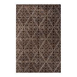Martha Stewart by Safavieh Strolling Garden 5'6 x 8'6 Area Rug in Dark Brown