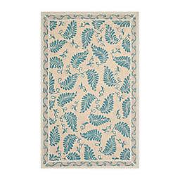 Martha Stewart by Safavieh Fern Frolic 5' x 8' Area Rug in Blue