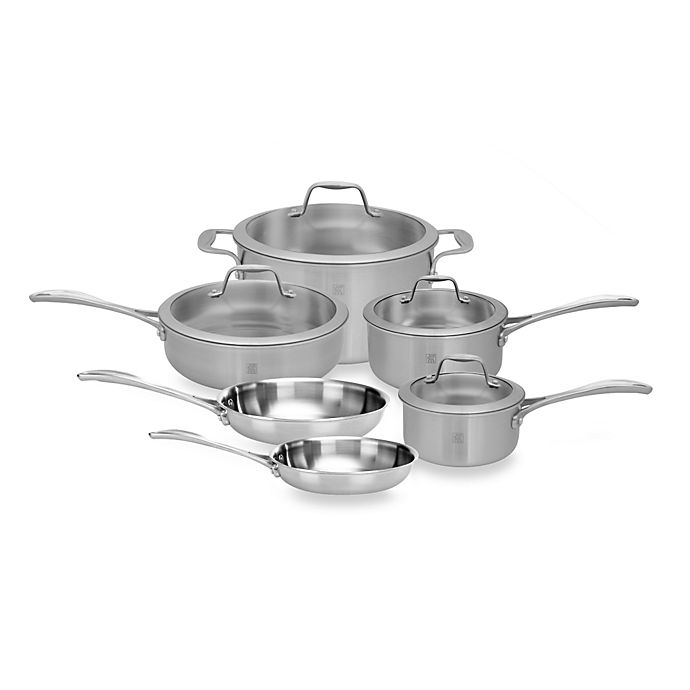 Alternate image 1 for Zwilling J.A. Henckels Spirit 10-Piece Stainless Steel Cookware Set