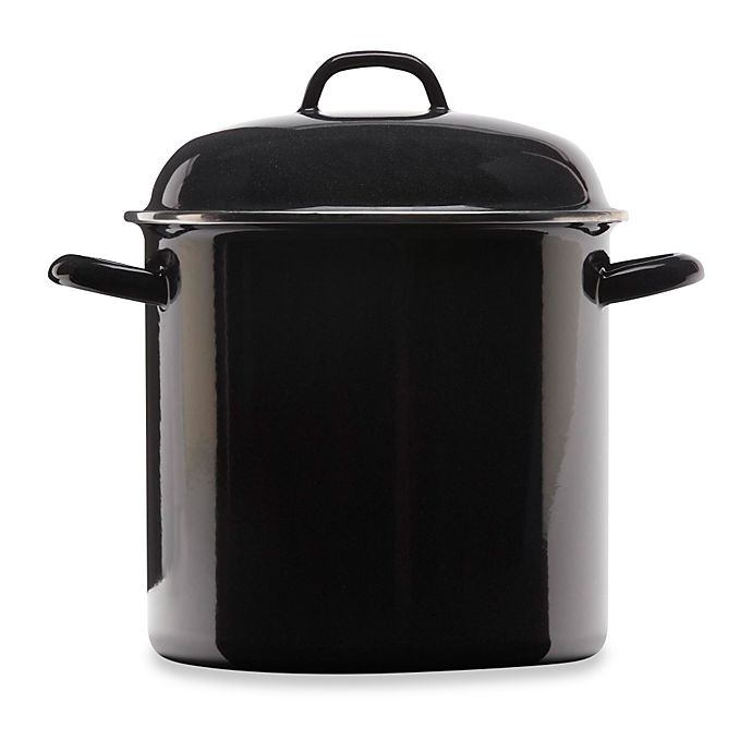 a389d651a Columbian Home Products Grand Epicure Stock Pot in Black | Bed Bath ...