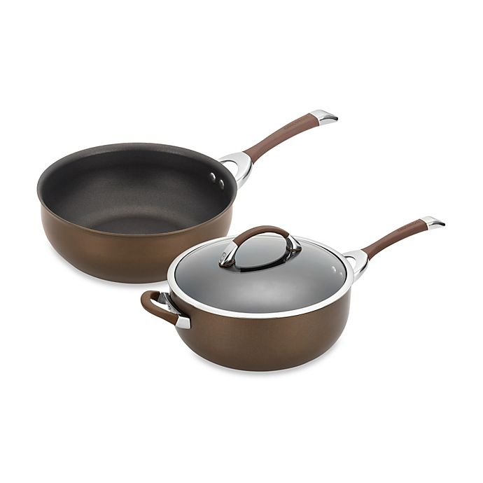 Alternate image 1 for Circulon® Symmetry™ Hard Anodized Nonstick Chef Pans in Chocolate