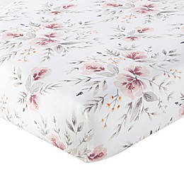 Levtex Baby® Adeline Floral Fitted Crib Sheet in Blush/Grey