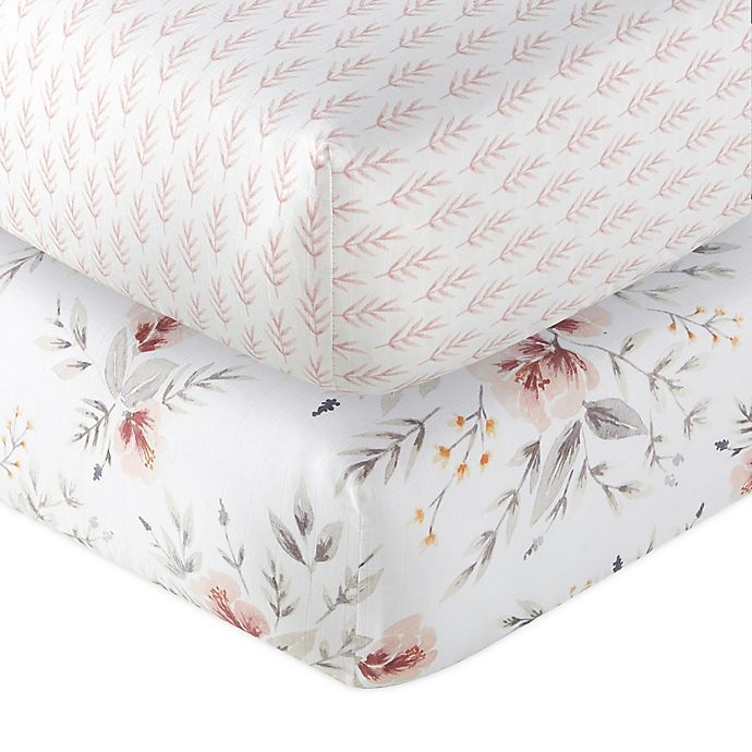 Alternate image 1 for Levtex Baby® Adeline 2-Piece Fitted Crib Sheets Set in Blush