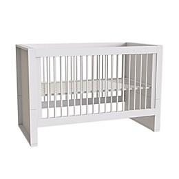little guy comfort Milk 3-in-1 Convertible Crib in White