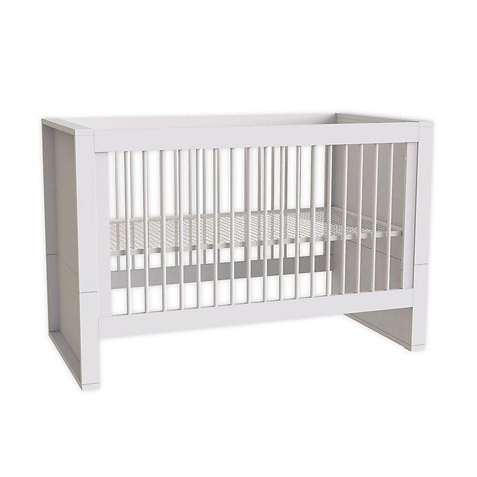 Alternate image 1 for little guy comfort Milk 3-in-1 Convertible Crib in White