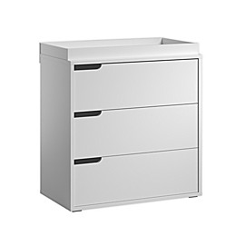little guy comfort Milk 3-Drawer Dresser in White