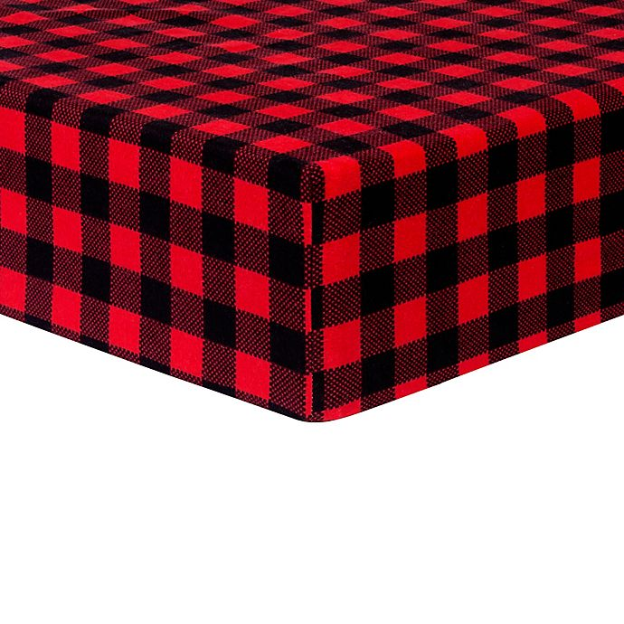 Alternate image 1 for Trend Lab® Buffalo Check Fitted Flannel Crib Sheet