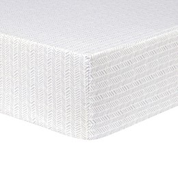 Trend Lab® Herringbone Fitted Flannel Crib Sheet