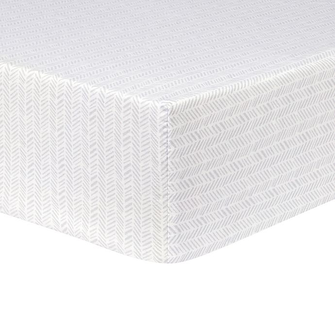 Alternate image 1 for Trend Lab® Herringbone Fitted Flannel Crib Sheet