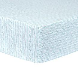 Trend Lab® Herringbone Fitted Flannel Crib Sheet