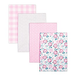 Trend Lab® 4-Pack Flannel Receiving Blankets