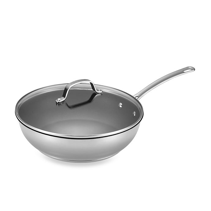 Alternate image 1 for Circulon® Genesis™ Stainless Steel Nonstick 12.5-Inch Covered Deep Skillet