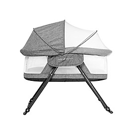 Baby Delight® Go With Me Slumber Folding Travel Bassinet in Charcoal Tweed