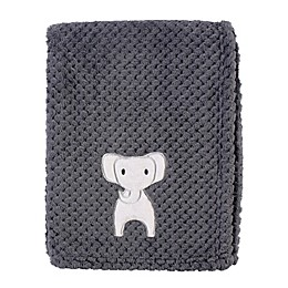 Hudson Baby Modern Elephant Waffle Swaddle Blanket in Grey