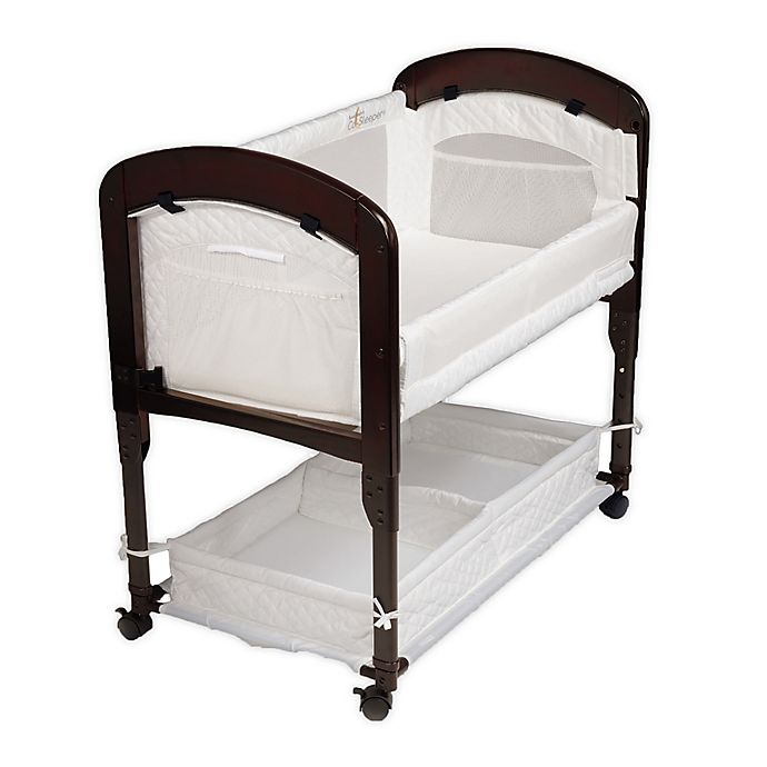 Alternate image 1 for Arm's Reach® Cambria Co-Sleeper® in Espresso/White