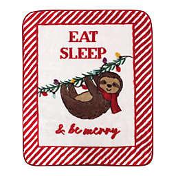 Hudson Baby Christmas Animal Stroller Blanket
