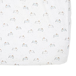 Pehr Bunny Fitted Crib Sheet in Blue
