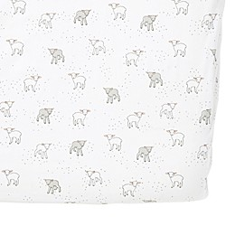 Pehr Lamb Fitted Crib Sheet in Grey