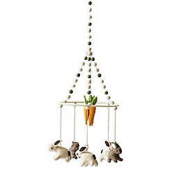 Pehr Just Hatched Hand-Woven Bunny Mobile in Grey